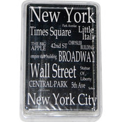 "NYC ""White Letters"" Playing Cards"