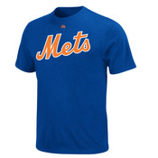 Mets Royal Wordmark Mens Tee