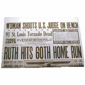Babe Ruth Hits 60th Home Run Historic Replica Newspaper
