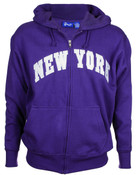 New York Purple Zipper Hoodie