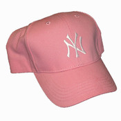 Yankees Youth Pink Adjustable Cap