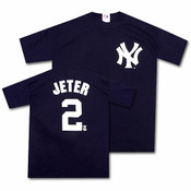 Yankees Derek Jeter Name and Number Mens Tee