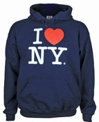 I Love NY Navy Hooded Sweatshirt