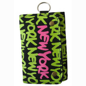 Neon Green New York Wallet