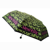 Black/Green New York Umbrella