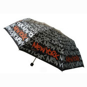 Black/Silver New York Umbrella