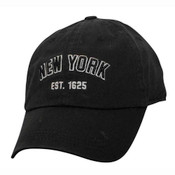 """Black/Black NY """"Est 1625"""" Cap"""