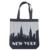 "NYC ""Grey Skyline"" Canvas Tote Bag"