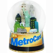 NYC MTA Metrocard 65mm Snowglobe