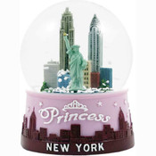 New York Pink Princess 100mm Light-up Snowglobe