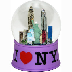 I Love NY Purple 65mm Snowglobe