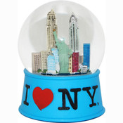 I Love NY Blue 65mm Snowglobe