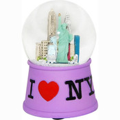 I Love NY Purple 45mm Snowglobe