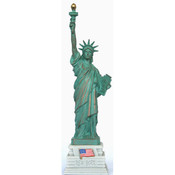 8 1/4 Inch Statue of Liberty w/ Half Base