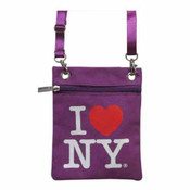 Purple I love NY Neck Wallet