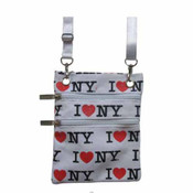 White I Love NY Allover Neck Wallet