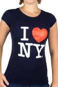 Navy I Love NY Fitted Tee Shirt
