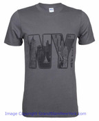 NY New York Iconic Detailed Charcoal Tee