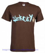 New York City Graffiti Apple Brown Tee Shirt