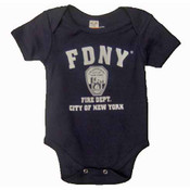 FDNY Full Chest Navy Onesie