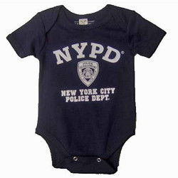 NYPD Full Chest Navy Onesie