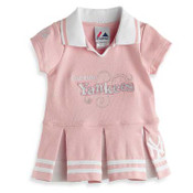 Little Miss Yankees Pink Toddler Mini Dress