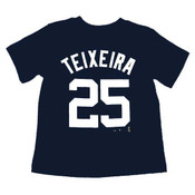 Yankees Mark Teixeira Toddler Navy Tee