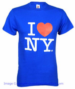 Royal Blue I Love NY Tee Shirt