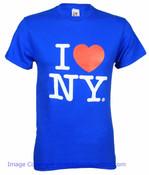 Royal Blue I Love NY Tee Shirt