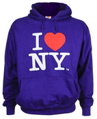 I Love NY Purple Embroidered Sweatshirt