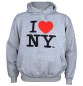 I Love NY Ash Embroidered Sweatshirt