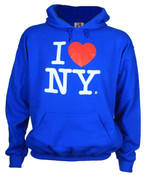 I Love NY Royal Blue Hooded Sweatshirt