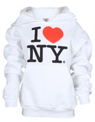 I Love NY White Kids Sweatshirt