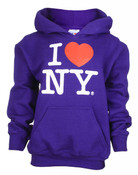 I Love NY Purple Kids Sweatshirt