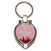 NY Pink Princess Heart Shaped Keychain