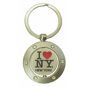 I Love NY Swivel Keyring with Rhinestones
