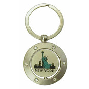 Statue of Liberty Swivel Keyring with Rhinestones