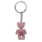 NY Pink Princess Pink Bear Keychain