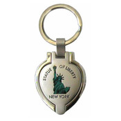 Statue of Liberty Heart Shaped Keychain