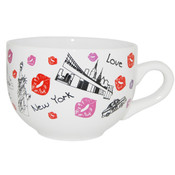 New York Lips Design Soup Mug