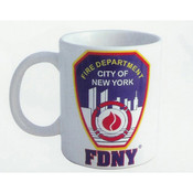 FDNY White 11 oz Mug