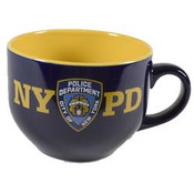 NYPD Navy and Yellow Soup Mug