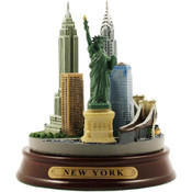 Mini Round NYC Color Skyline Model
