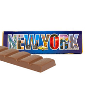 New York Milk Chocolate Bar with chocolate