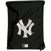 Yankees Logo Black Draw-String Back Sack