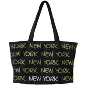 Robin-Ruth NY Black/Gold/White Tote Bag