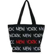Robin-Ruth NY Black/White/Red Small Tote Bag