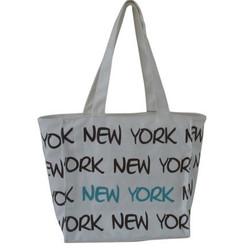 Robin-Ruth NY White/Brown Small Tote Bag