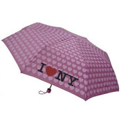 Pink I Love NY Umbrella with Hearts