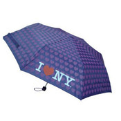 Purple I Love NY Umbrella with Hearts